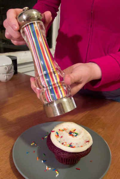 "And this is a SPRINKLES MILL. | 50 Things That Will Make You Say ""What A Time To Be Alive"" I want this it looks cool"