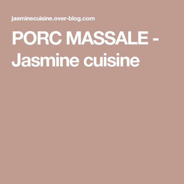 PORC MASSALE - Jasmine cuisine
