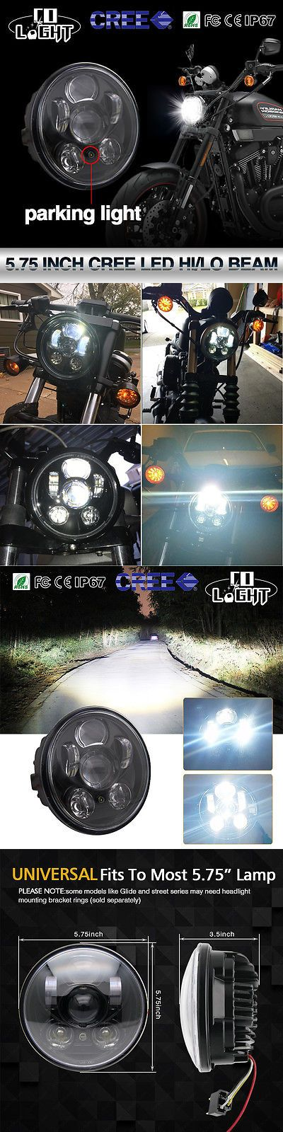 motorcycle parts: 5.75 Led Projection Daymaker Headlight For Harley Sportster Xl 883 1200 Dyna -> BUY IT NOW ONLY: $39.97 on eBay!