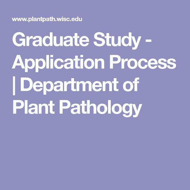 Graduate Study - Application Process | Department of Plant Pathology