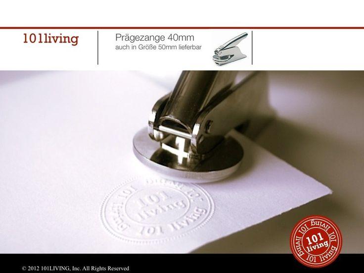 Einladungskarten - Prägezange inkl. Prägeplatte - ein Designerstück von 101living bei DaWanda