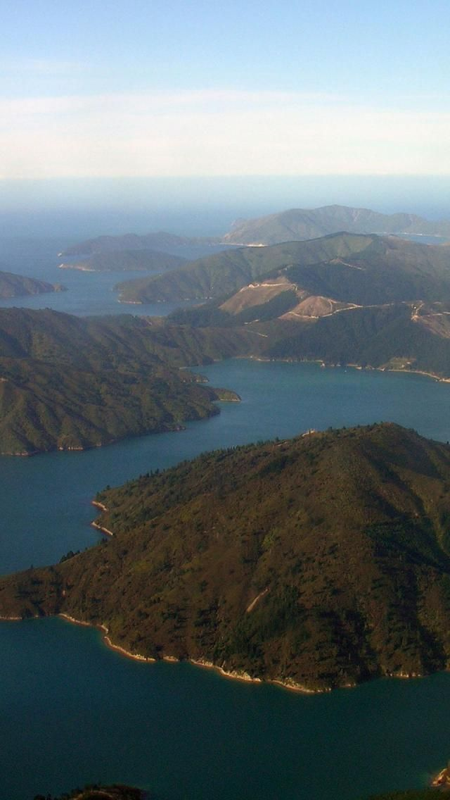 Tory Channel. Marlborough Sounds, South Island, New-Zealand