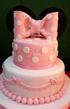 Nina by Lady: ¡Temática Minnie bebé! Tortas infantiles tortas para cumpleaños decoracion de tortas con fondant
