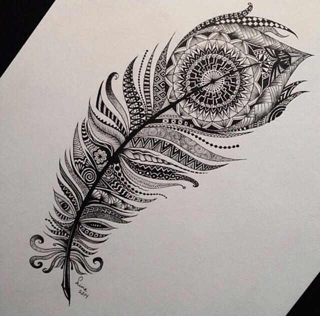 Indian style feather