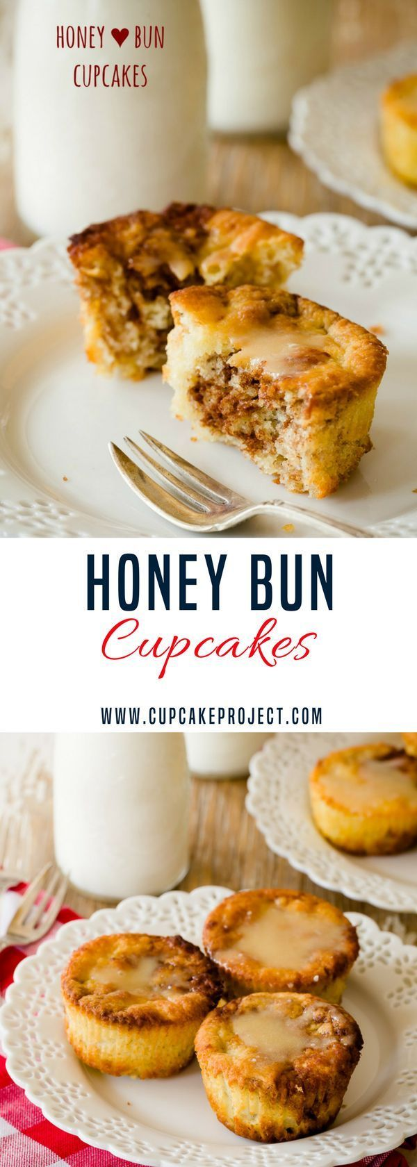 Looking for honeybuns recipes? Honey buns are essentially cinnamon buns made with a cinnamon honey swirl filling and topped with a honey glaze. Add this to your best of Valentines ideas! More easy and from scratch baking recipes from #CupcakeProject #brea
