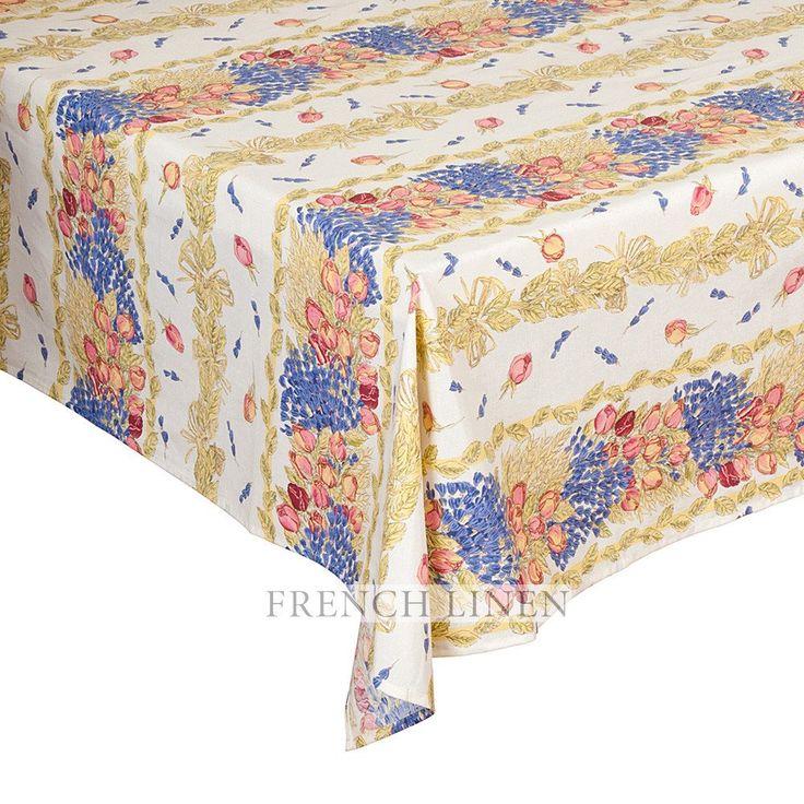 """""""Roses et Lavande"""" Rectangle Tablecloth"""