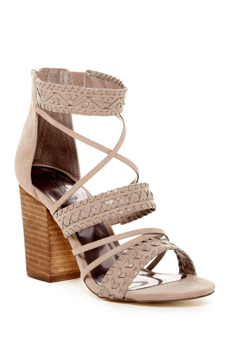 Amazing Carlos By Carlos Santana Java Block Heel Sandals