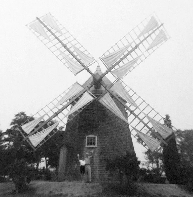 Windmill Cape Cod Part - 16: Eastham Windmill, MA - The Oldest Windmill On Cape Cod, C 1940. To