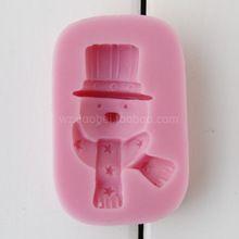 El azúcar del chocolate Fondant Molde de silicona molde de silicona de gel de serie del muñeco de nieve del envío (China (continente))