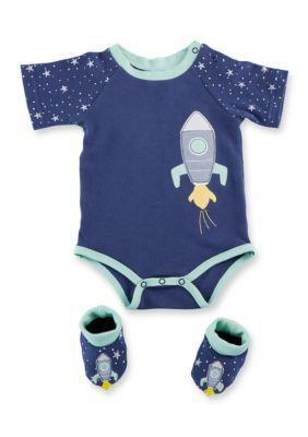 Baby Aspen  Blue Cosmo Tot Spaceship 2-Piece Gift Set
