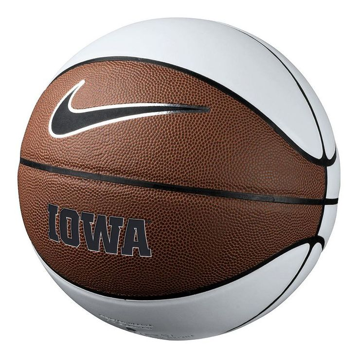 Nike Iowa Hawkeyes Autograph Basketball, White Oth