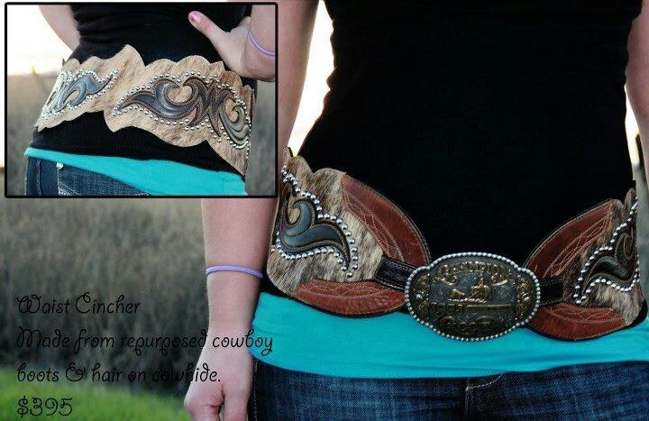repurposed cowboy boot belt - love!!