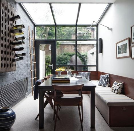 Industrial-Style Conservatory - sleek and masculine with lots of light
