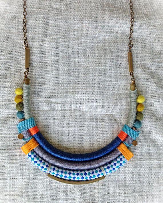 The ISADORA Necklace Color Study No. 38 by NestoftheBluebird, $72.00