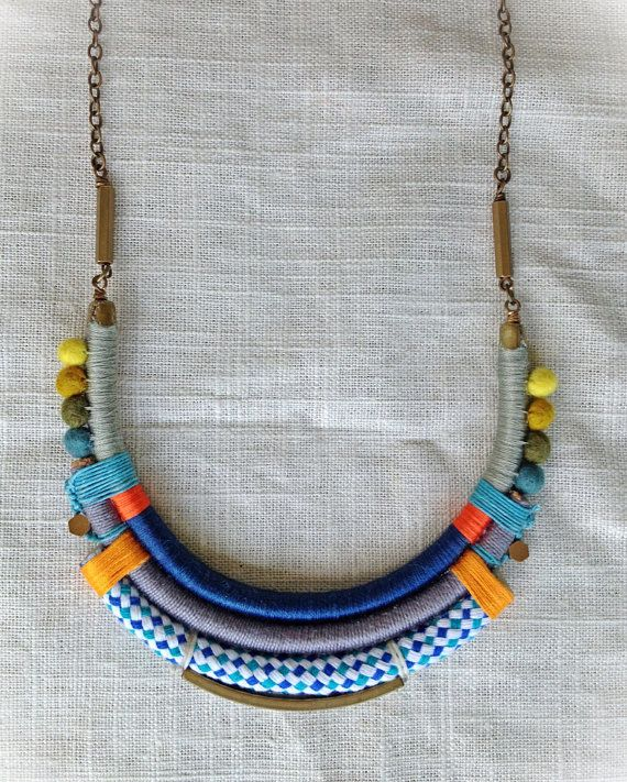 The ISADORA Necklace Color Study No. 38 by NestoftheBluebird, $72.00