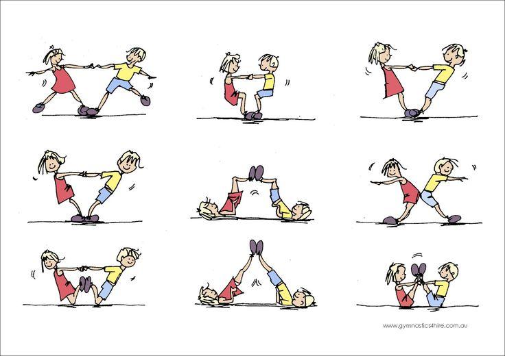 gymnastics partner balance activities - Google Search