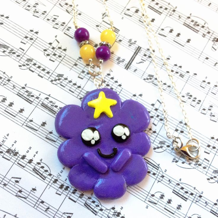 Lumpy space princess necklace, polymer clay adventure time, polymer clay charm, oh my glob, adventure time inspired jewelry, kawaii princess by TheNerdyPeach on Etsy https://www.etsy.com/listing/264529819/lumpy-space-princess-necklace-polymer