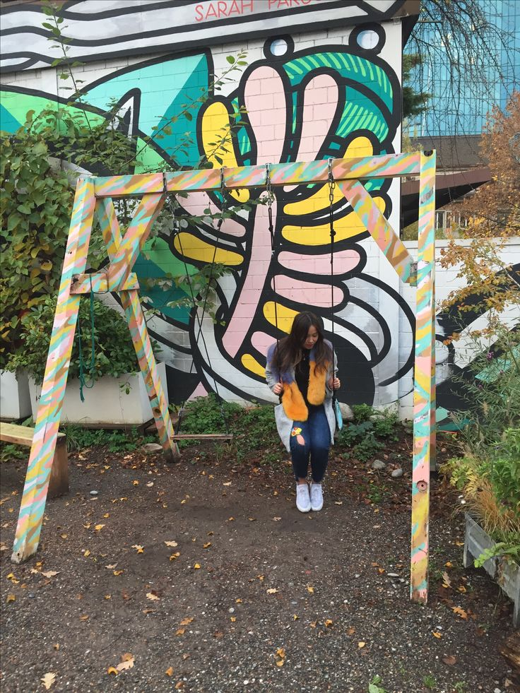 Chilling on some swings in some hard to pronounce park/art installation/beer gardens in Zurich, Switzerland. Wearing my yellow and blue faux fur scarf, Zara wool jacket, hand stitched jeans and Nike huaraches