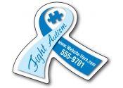 Awareness Car Magnets, Breast Cancer Awareness Car Magnets, Custom Ribbon Magnets