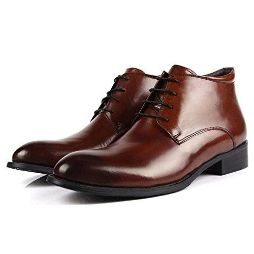 Zorgen Men's Dress Boots Genuine Leather Lacing up Dress…