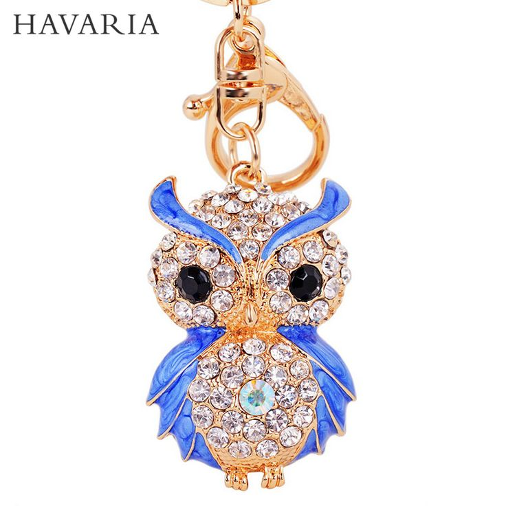 HAVARcd- IA Luxury Rhinestone Owl Key Chain or Handbag Pendant //Price: $7.23 & FREE Shipping //     #hashtag1