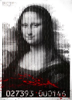 Mona Lisa, by Mr. Brainwash, pop art.