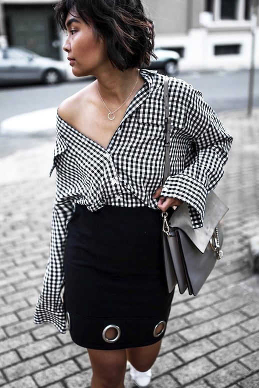 How To Toughen Up A Gingham Print Shirt