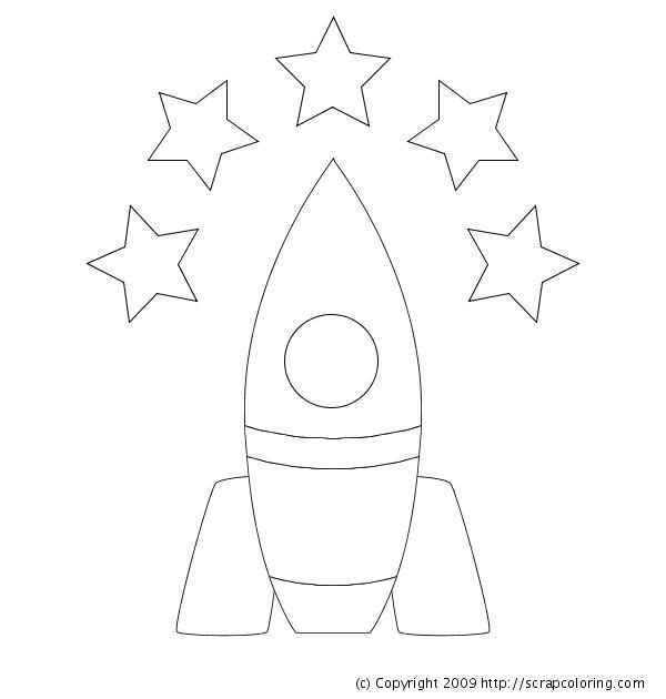 Rocket w/ stars