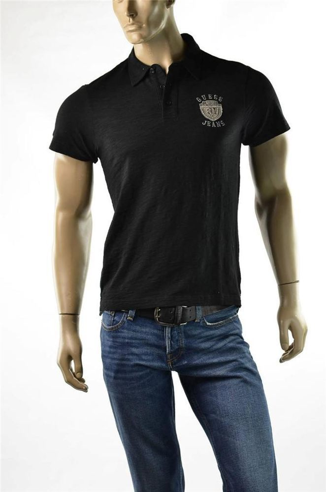 Guess Shirt Mens Black Polo Shirts S/S Diego Crest T-shirt NWT Sz S Small  New #Guess #PoloRugby #5Gables for more Great Deals Visit http://ebay.us/GWAxXI