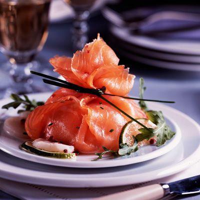 Découvrez la recette de l'aumônière de saumon aux coquilles saint-jacques