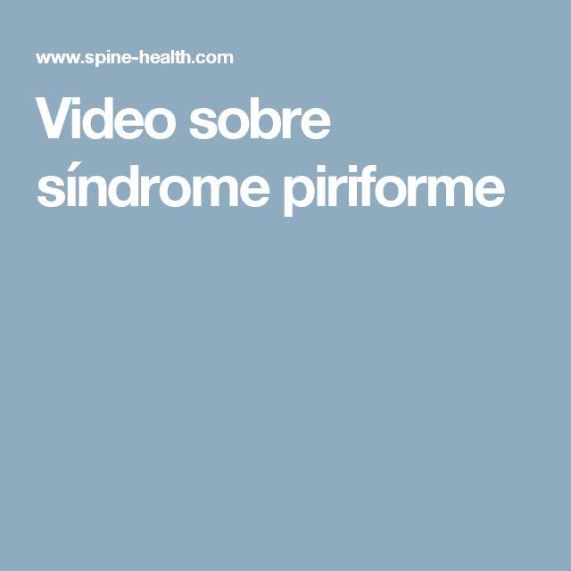 Video sobre síndrome piriforme