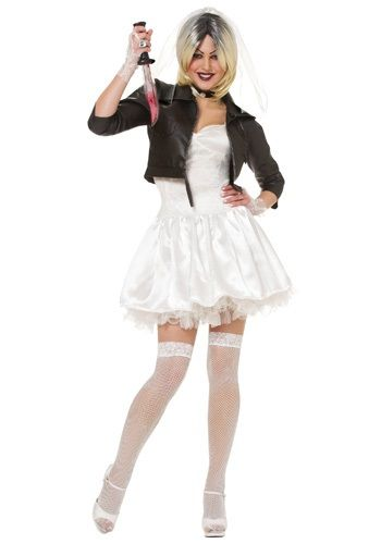 This Bride of Chucky Costume is a scary doll costume for women to wear. All you need to do is find your husband; a Chucky doll!