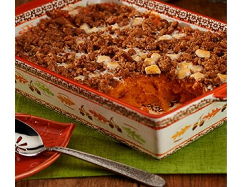 Story image of Sweet Potato Casserole with Marshmallows & Pecans
