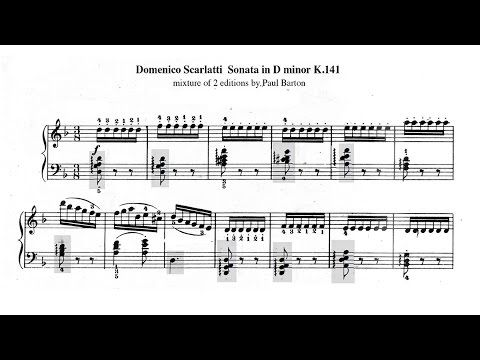 Scarlatti Sonata in D minor K 141 with FREE SHEET MUSIC