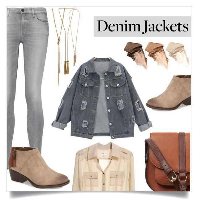 """""""Denim Trend: Jean Jackets"""" by lamemechose ❤ liked on Polyvore featuring 7 For All Mankind, Reiss, BC Footwear, Urban Decay, Lanvin, Roberto Cavalli, Accessorize and jeanjackets"""