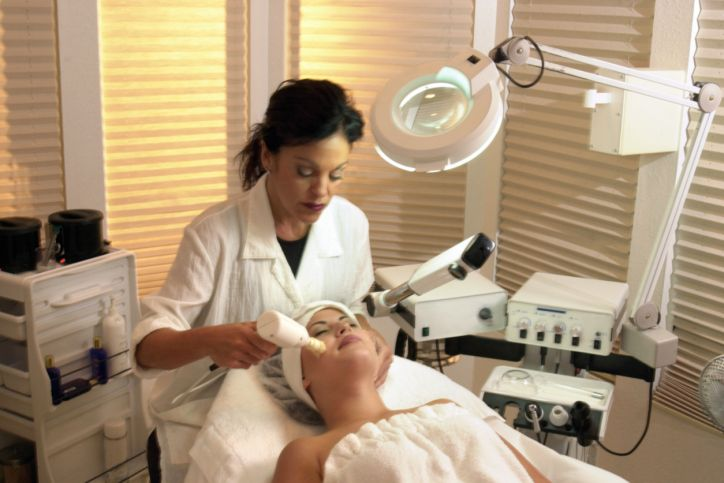Esthetician Working in Dermatologist's Office