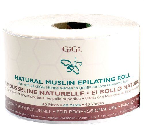 "GiGi Natural Muslin Roll (Pack of 2) by GiGi. Save 33 Off!. $25.89. Natural Muslin Roll. 40 yards per roll. 3/4"" Wide.. Allows you to cut as much or as little as you need. Natural Muslin Roll.  Allows you to cut as much or as little as you need.  3/4"" Wide.  40 yards per roll."