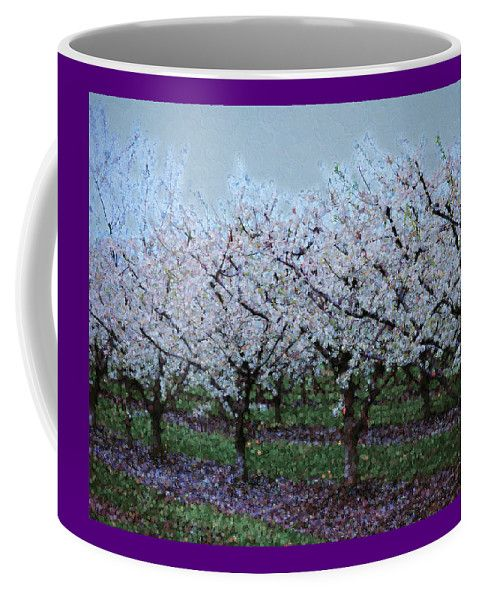 Springtime In The Cherry Orchard Coffee Mug by Leslie Montgomery.  Small (11 oz.)