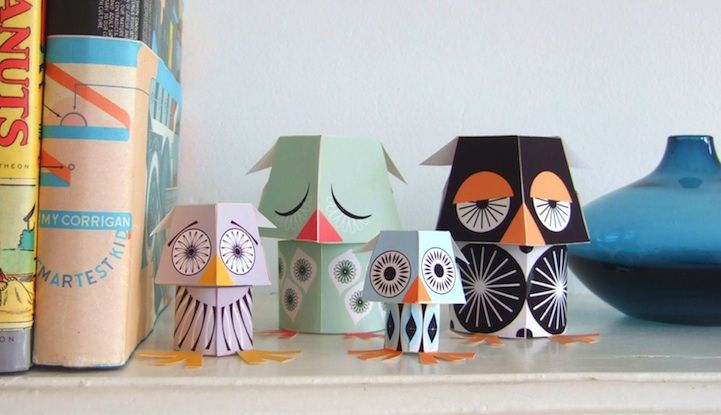 For those that love turning something 2D into something 3D, check out these adorable printable papercraft animals from Mibo. The UK-based design studio sells the cutest paper animals we've ever seen in sets like Forest Friends (squirrel, hedgehog, badger and fox), The Marine Team (whale, dolphin, sea turtle, bannerfish, octopus) and The Wild Bunch (giraffe, monkey, lion and elephant).