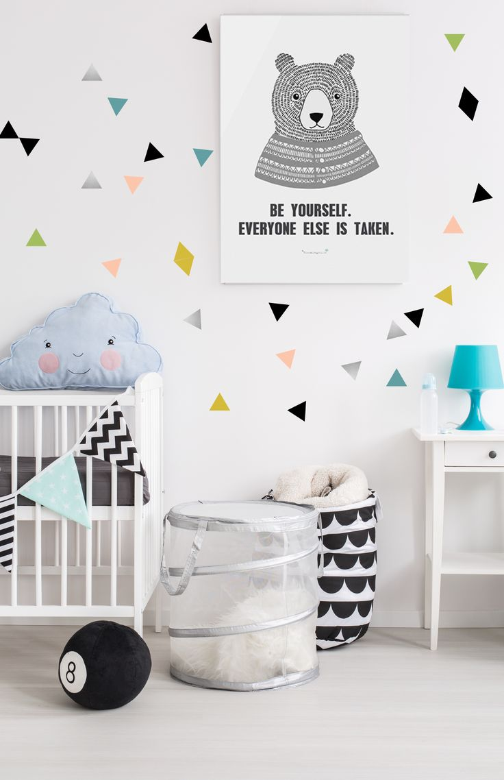 The 25 best multicoloured wall stickers ideas on pinterest pm le bonhomme multicoloured triangles wall stickers 15 amipublicfo Gallery
