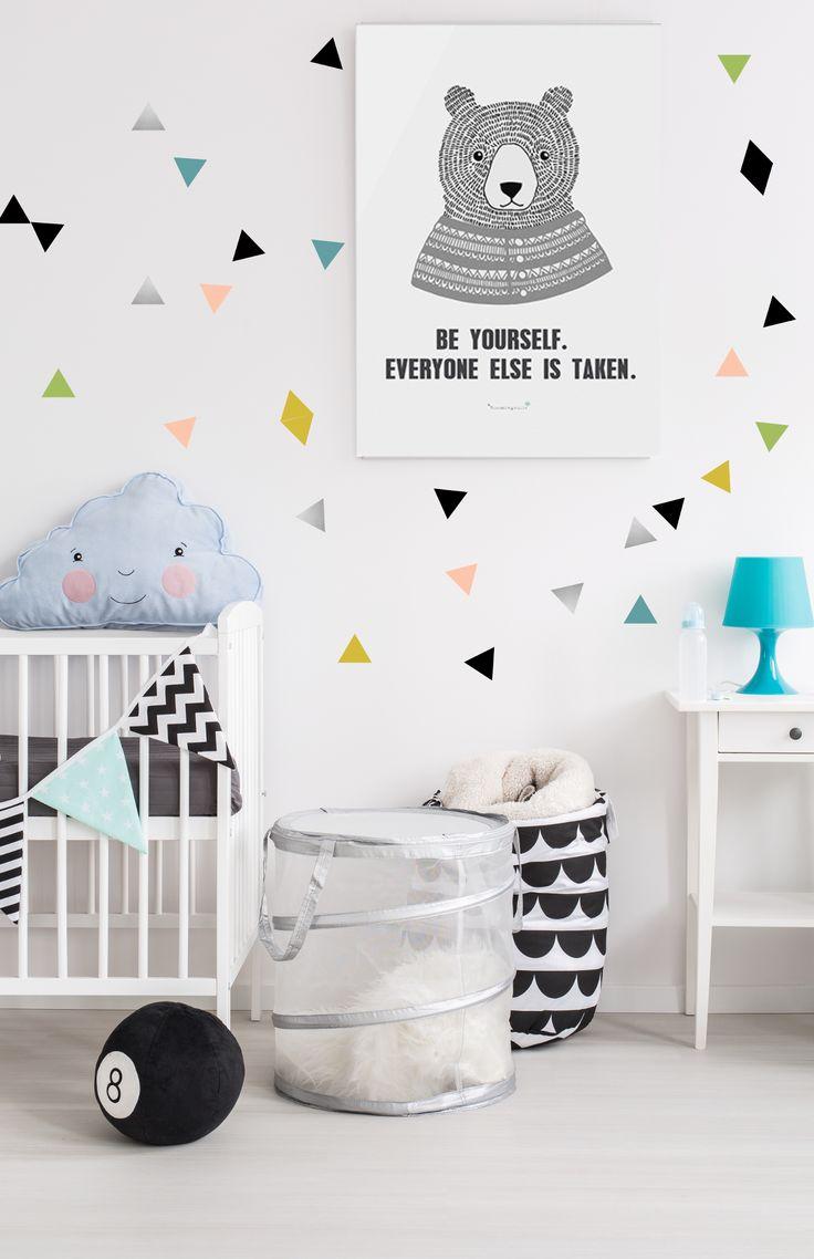 PÖM le Bonhomme Multicoloured Triangles Wall Stickers £15