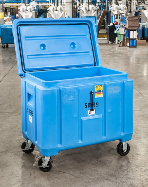 Light weight and insulated to keep our dry ice during storage in its best quality.