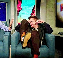 When he couldn't even handle his life. | 26 Times Robert Pattinson Was A Total Freakin' Weirdo 'Popcorn with Peter Travers'