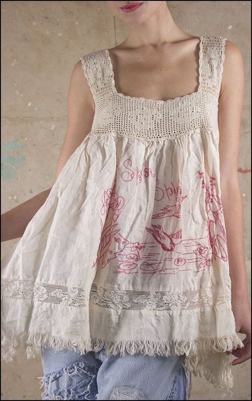 Ideas for recycling clothing, funky and fun stitching, flattering, gypsy, free style