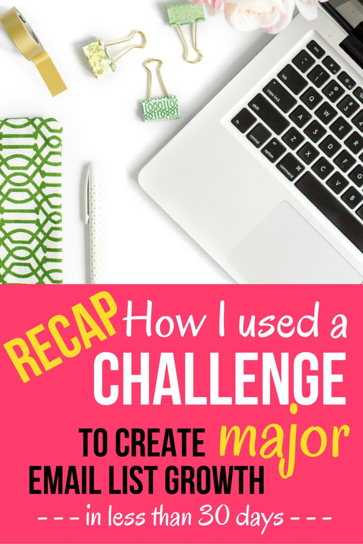 How to use a challenge to create major email list growth. I'm sharing step-by-step how I created the 14-day Pin Profit Challenge as a highly successful email list building strategy for my business, that helped me launch a paid course offering.  Click through to read the full recap, plus grab your 27 point checklist directly from the challenge!