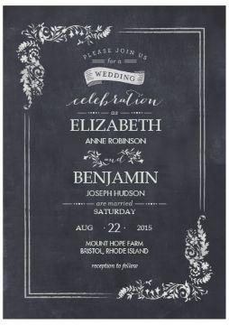 Costco Wedding Invitation, Less Than A Dollar A Piece. No Rsvp Card