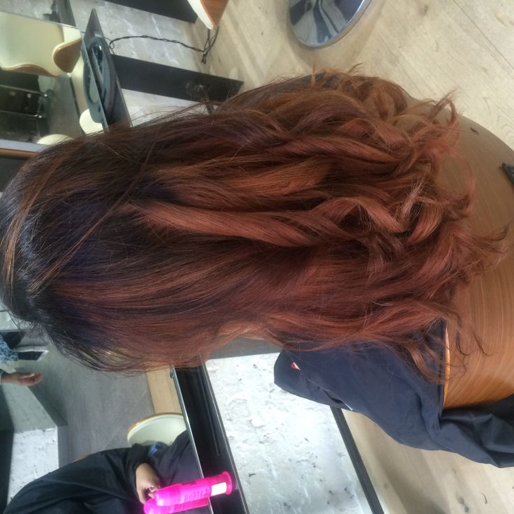 Ombré done by me dark brown to copper