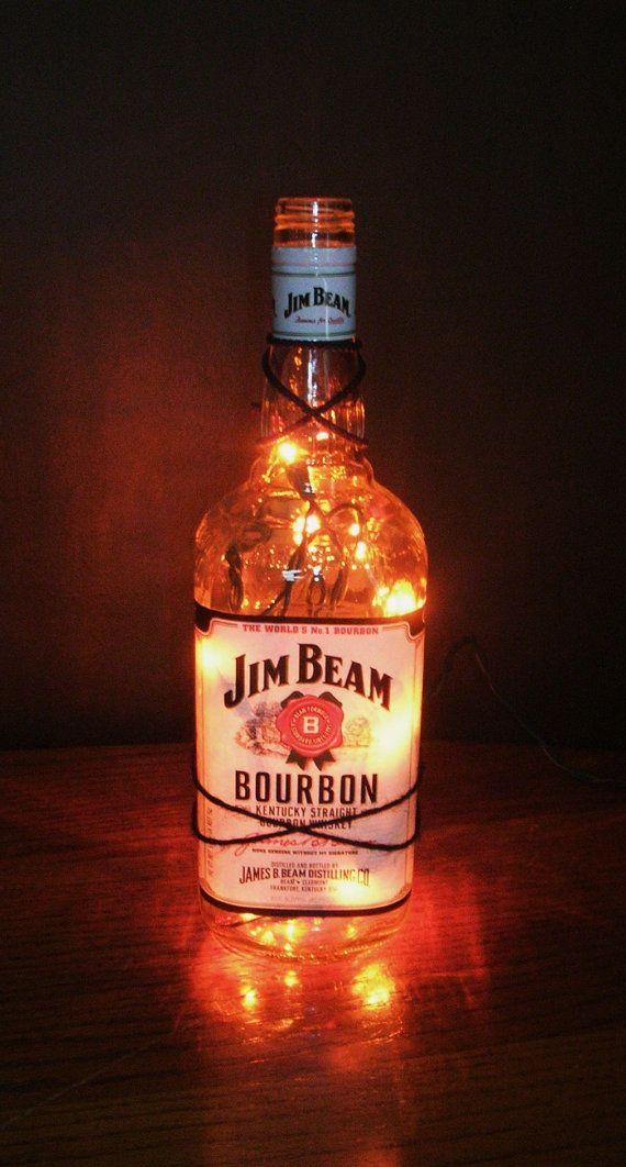 Jim Beam Bottle Light/ Jim Beam Bourbon/ by MonikasBoutique