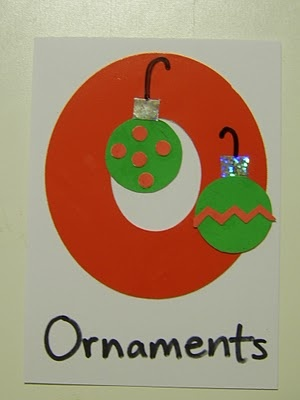 O Letter Day craft - ornaments                                                                                                                                                                                 More