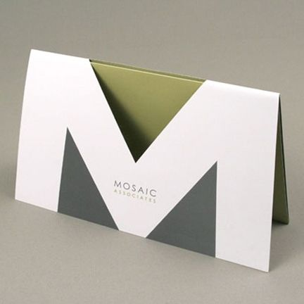 Mosaic Associates - Gatefold with die cut